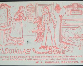 Victorian Trade Card Douglas Shoes Advertising