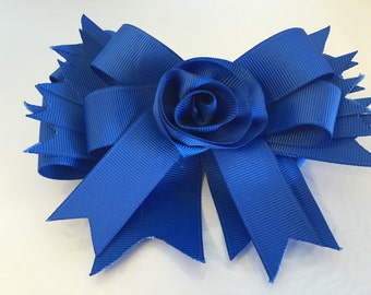 Blooming Blue Hair-Bow