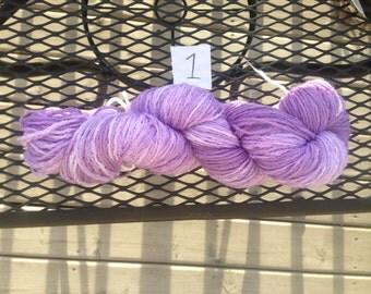 Hand Dyed Lilac Yarn