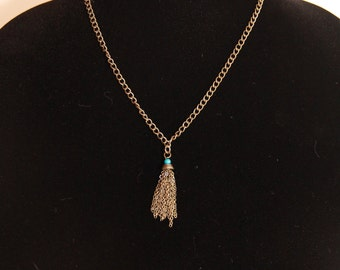 Gold Chain with Tassel