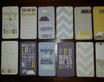 Journaling Cards - Set of 12