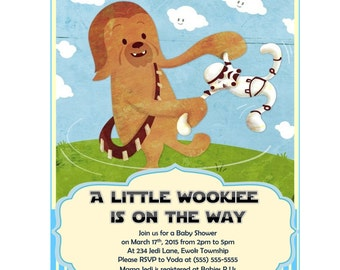 star wars baby shower invitation chewbacca boy baby shower invitations