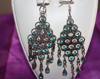 Baby Blue Crystal Earrings