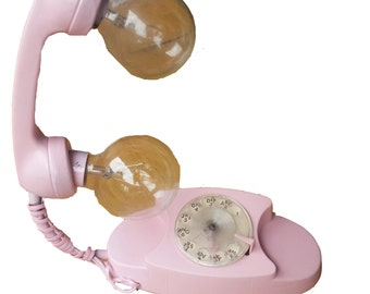 Pink Telephone Lamp
