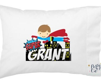 Personalized- Superhero Pillow Cases -