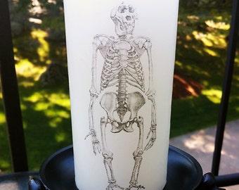 Ape Skeleton Pillar Candle