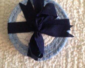 Clothesline Fabric Coasters- Set of 4