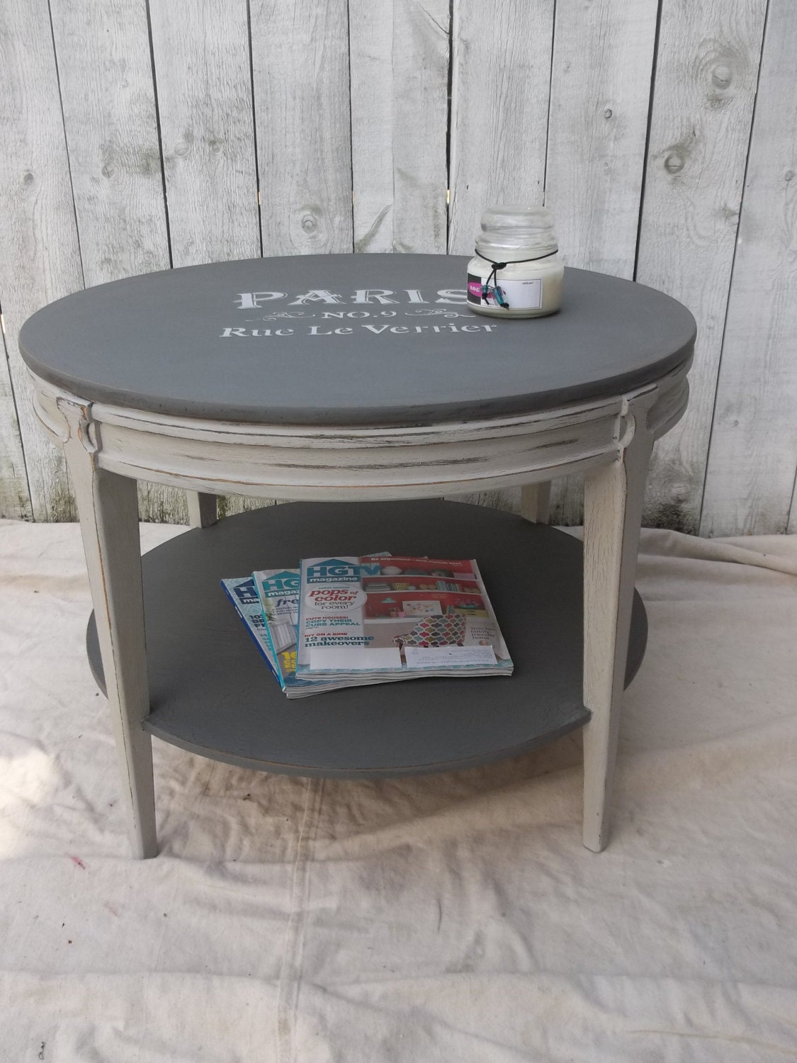 Vintage Mersman 31 25 Coffee Table Shabyy Chic Hand Painted Custom Chalk  Paint Distressed