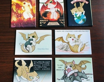 Demon Kitty Magnet Set of 7
