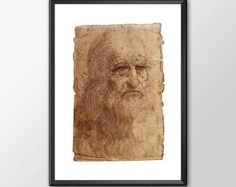 Da Vinci Self Portrait - Leonardo Da Vinci Tribute - Buy 2 GET 1 Free
