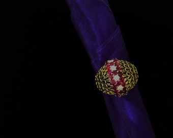 """18k Ruby and Diamond """"Dome"""" Ring"""