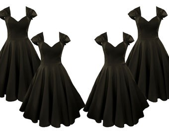 Elizabeth Stone, 50s Syle, 'Vivien'  Bridesmaids Dresses in Black.