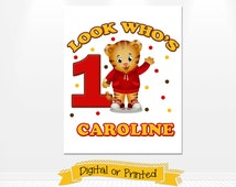 Daniel the Tiger Birthday Iron On Transfer Printed or Digital Copy 24 Hr Turnaround! Daniel the Tiger Tshirt Iron On Transfer party supplies