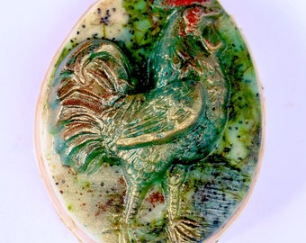 Rooster soap rooster cock farmyard farm farm house country country decor rooster art rooster decor chicken hen roosters rooster decor farmer
