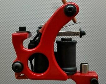 Handmade Tattoo Machine-Hand Wound Coils-Apple Red