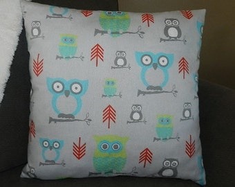 4 Sizes Available - Premier Twill Harmony Owls Pillow Cover