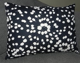 7 Sizes Available - Dear Stella  Tulips on Black  Pillow Cover, Sham, Lumbar, Throw Pillow, Cushion, Decorative Pillow