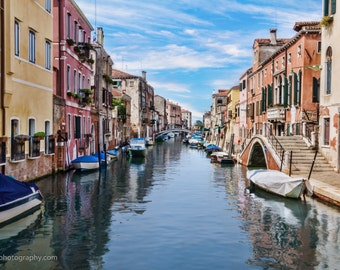 Canal in Venice, Italy, Landscape Photography, Wall Art