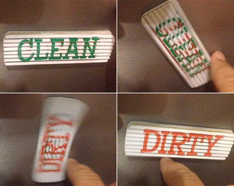 Clean/Dirty Dishwasher Sign Magnet