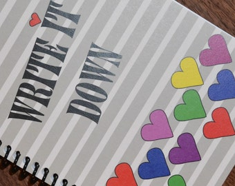 Cute Blank Notebook / Journal / Sketch pad for Girl