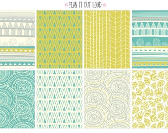 Full box Tribal background stickers (planner stickers)