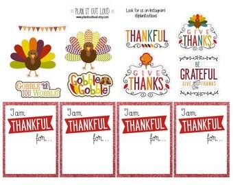 Thankful Sticker Set (planner stickers)