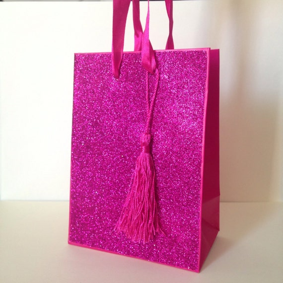 Paper Gift Bag With Handles Pink Gift Bag Glitter Gift Bag