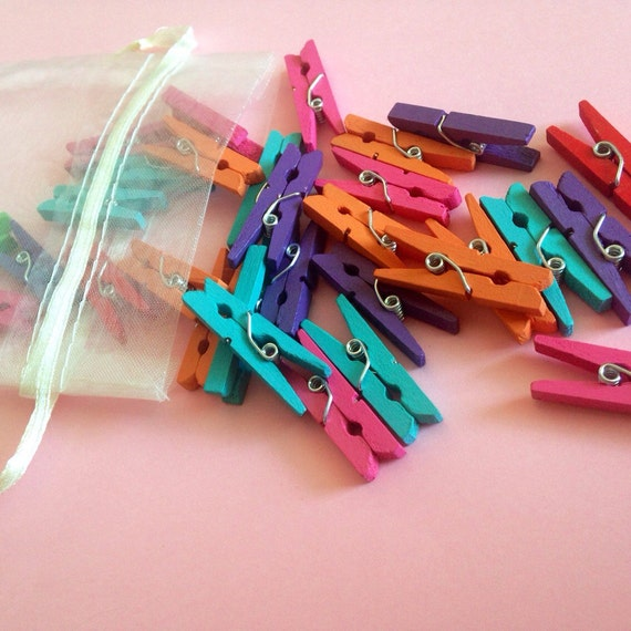 Mini clothespins colorful clothespins tiny clothespins for Mini clothespin craft ideas