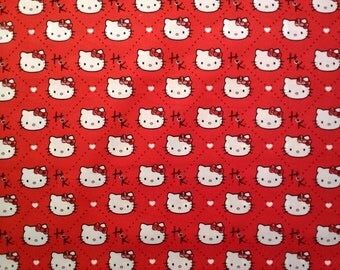 Hello Kitty Plaid Dimond Fabric
