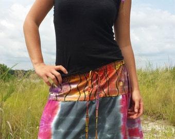 handmade, hand dyed skirt