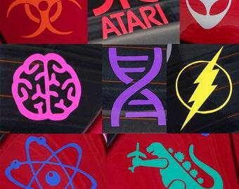 Geeks Rule!  Geek Pack Multipack or Individual - Vinyl Decal - Multiple Colors