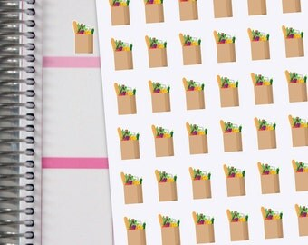 Planner Stickers Grocery Bags