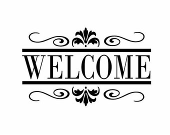 Welcome Wall Vinyl Decal