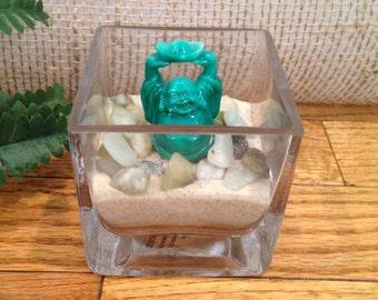 GREEN BUDDHA Miniature Zen Garden