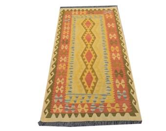 FREE SHIPPING    ....     Gorgeous Hand Woven Vintage Chobi Kilim 100% Natural Wool