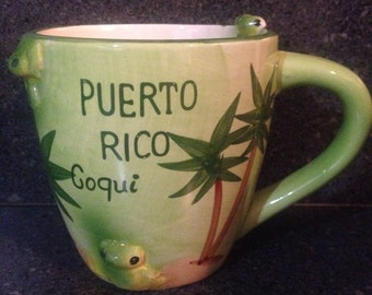Puerto Rico ceramic coqui coffee cup mugs 12oz