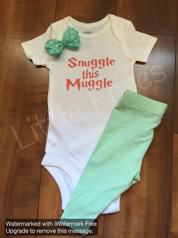 Items similar to Snuggle this Muggle, Harry Potter baby ...