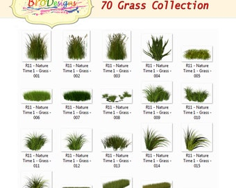 INSTANT DOWNLOAD 70 Grass Collection Digital Background, Photo Overlays