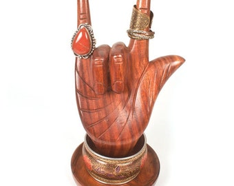 Hand Carved Love Hand