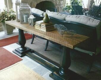 Antique Oak Sofa Table