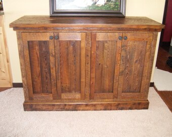 Rustic Console Made from Reclaimed Material