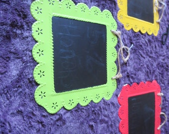 set off 3 colorful chalk boards