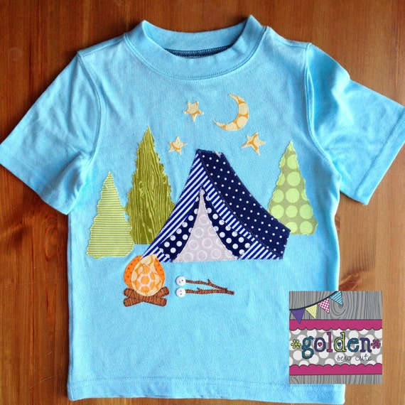 Camping Tent Birthday Tee with Age