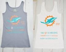 Womens Miami Dolphins Shirt/ Tank Top/Florida/ Miami/ Dolphins/ Tank Top/ Haters/ Football/ NFL/ Fan Shirt/ Sports