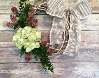 Rustic Hydrangea Wreath