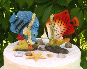 Maritime Wedding Cake Topper Fishes