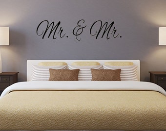 Mr. and Mr. 3 vinyl wall decal