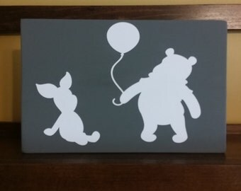 Winnie the Pooh Wooden Sign Nursery Decor Baby's Room Customize