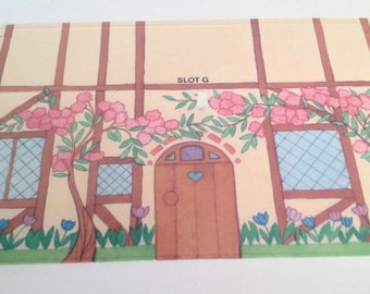 Vintage English cottage note cards, envelopes, and little cottage box