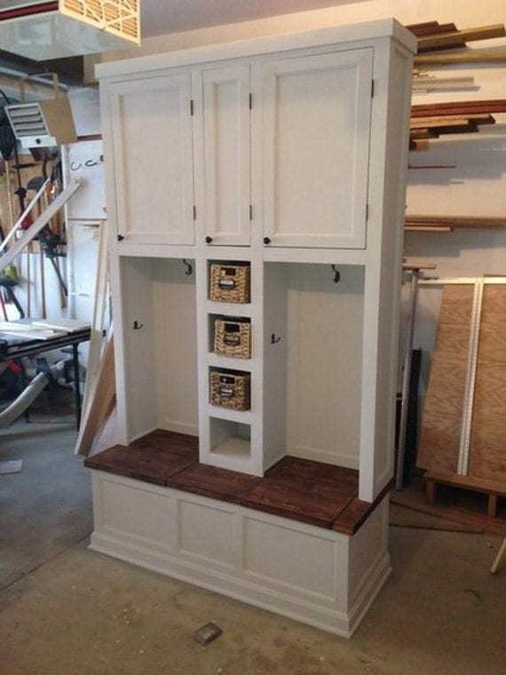 Mudroom locker system organization cubby cabinet entryway for Mudroom locker design plans